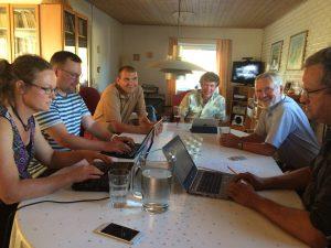 Seks mødedeltagere samlet privat